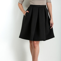Jillian Black Scuba Flare Skirt