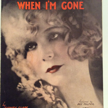 BEE PALMER Sheet Music Please Don't Talk About Me When I'm Gone 1930