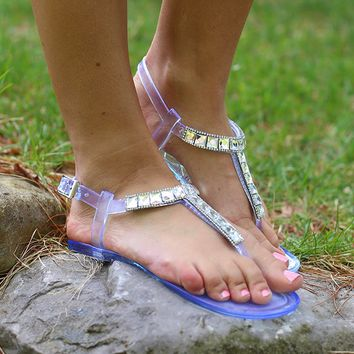 All This Jelly Sandals in White