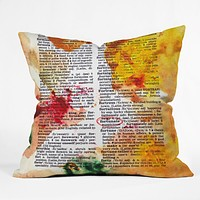 Susanne Kasielke Fortunate Dictionary Art Throw Pillow