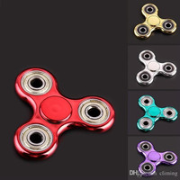 Fashion Triangle Plasticl Fidget Spinner Colorful Hand Spinners Three Holes Spinning Top Anti Anxiety EDC Finger Toys New Arrival