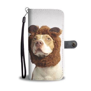 Pit Bull in a Costume Phone Wallet Case