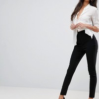 ASOS TALL High Waist Trousers In Skinny Fit at asos.com