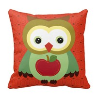 Autumn Animals Throw Pillows