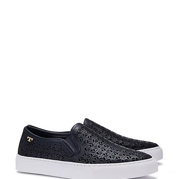 Tory Burch Lennon Perforated Slip-on Sneaker