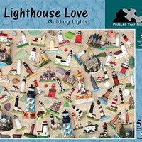 Lighthouse Love Guiding Lights Jigsaw Puzzle, 550 Pieces Made in America