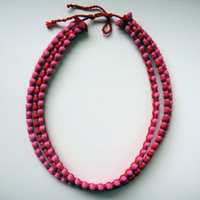 Grain Chi-Chi, 3 Strand Red/Pink