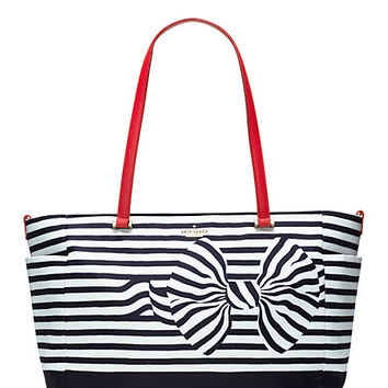 Kate Spade Classic Nylon Betheny Baby Bag Rich Navy Bow ONE