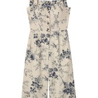 Gal Meets Glam Collection Magnolia Smocked Back Linen Blend Jumpsuit | Nordstrom