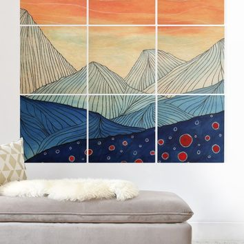 Viviana Gonzalez Lines in the mountains III Wood Wall Mural | DENY Designs Home Accessories