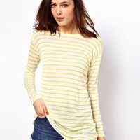 ASOS Top in Stripe with Long Sleeves at asos.com