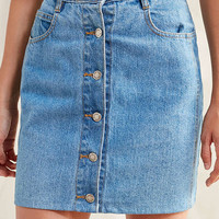 Urban Renewal Recycled Button-Front Mini Skirt | Urban Outfitters