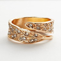 LC Lauren Conrad Leaf Bypass Ring