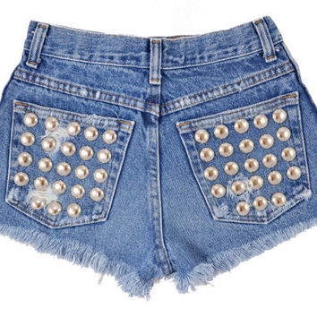 Capella short studded cut off shorts