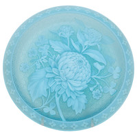 A Rare Unmarked Thomas Webb & Sons Cameo Glass Plate
