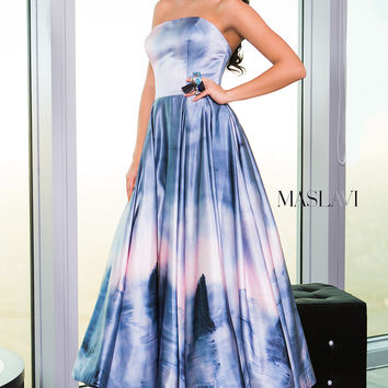 Multi Strapless Modern Dress M376
