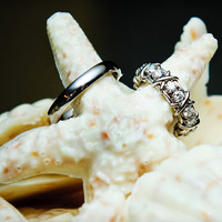 wedding beach rings