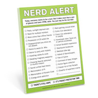 Knock Knock Nerd Alert Nifty Notepads | Free Ship $35+