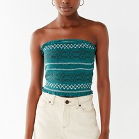 UO Moko Smocked Tube Top | Urban Outfitters
