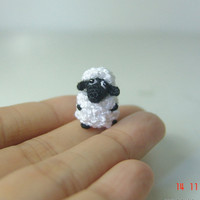 Tiny fat sheep Crochet stuffed animal  Amigurumi by LamLinh