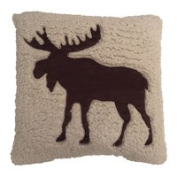 SONOMA life + style Moose Sherpa Throw Pillow (Brown)