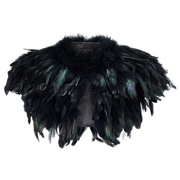 Buy Phase Eight Collection 8 Azaria Feather Cape, Black | John Lewis