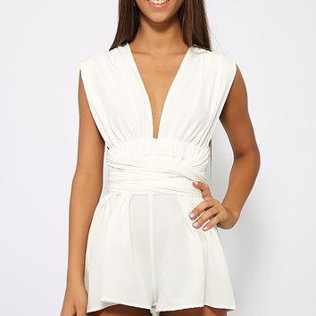 Wild Love Playsuit - White