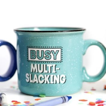 Jadelynn Brooke: Busy Multi-Slacking Fleck Mug