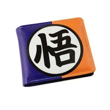 Dragonball Z Goku Blue Orange Logo Wallet