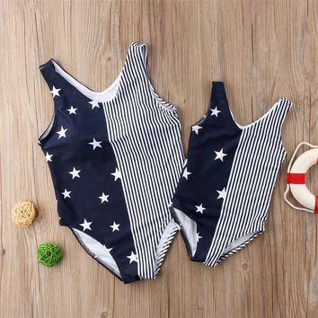 Navy Stars Swimsuit Mommy And Me