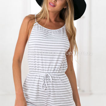 Faded Stripes Playsuit