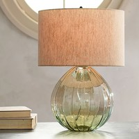 ALANA LUSTER GLASS TABLE LAMP BASE - GREEN