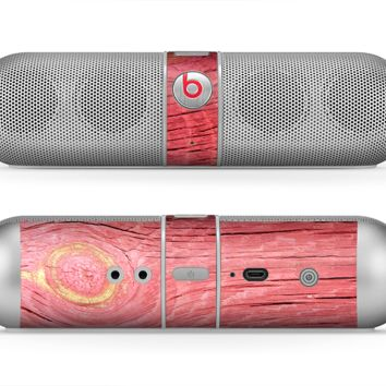 The Red-Wood with Yellow Knot Skin for the Beats by Dre Pill Bluetooth Speaker