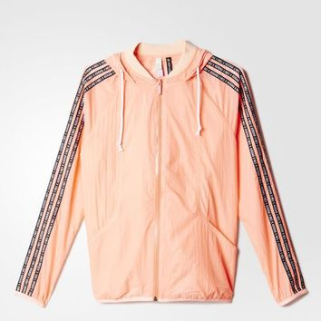 adidas Selena Gomez Windbreaker - Lightht Flash Orange | adidas UK