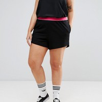 ASOS CURVE Rollerskate Short with Tipped Elastic Waistband at asos.com