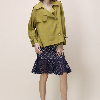 Optimum Condition Trench Coat in Mustard