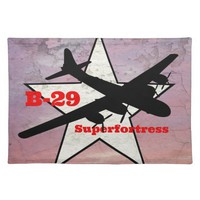 B-29 Superfortress bomber Placemat