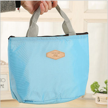 Hot Insulated Tinfoil Aluminum Cooler Thermal Picnic Lunch Bag Waterproof Travel Tote Box Fashion 4 Candy Colors PA673918