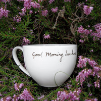 Good Morning Sunshine teacup by MrTeacup on Etsy