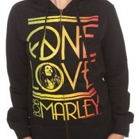 Bob Marley One Love Girls Zip Hoodie Plus Size