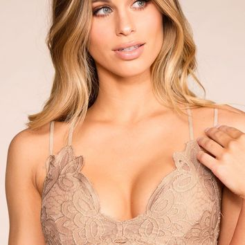 Elise Taupe Lace Bralette