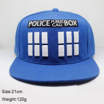 New Doctor Who Cap TARDIS Blue 3D embroidery Adjustable