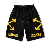 OFF WHITE Popular Print Men Women Sports Running Shorts