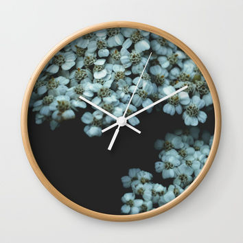Botanical Still Life Photography Tiny Flowers Wall Clock by ARTbyJWP