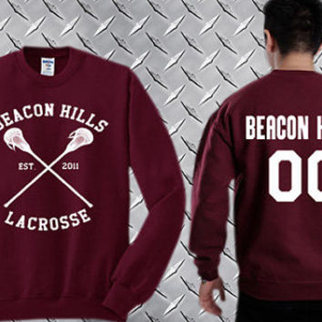 Beacon Hills 00,Teen Wolf  Custom Crewneck Sweatshirt for Unisex adult made by USA