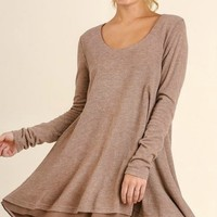Sweater Knit Layered Flair Dress