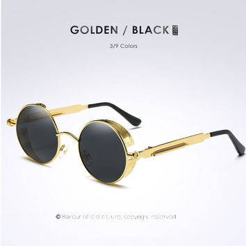 2017 Small Round Sunglasses for Girls New Big Circle Round Frame Polarized Sunglass Cover Female Eyewear Oculos de sol