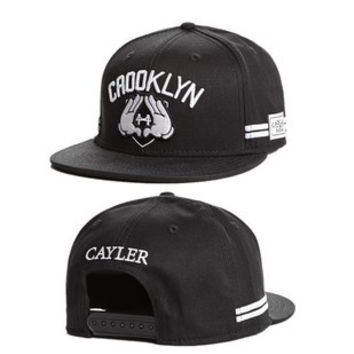 Cayler & Sons Crooklyn Mickey Mouse Jay Z HOV Hands Black Baseball Cap Snapback Hat