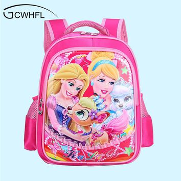 Lovely Princess Baby School Bags For Girls Children Primary School Backpacks Cartoon Cute Bookbag Kids Satchels Mochila Escolar