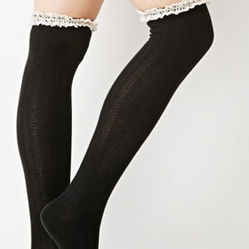 Crocheted Over-the-Knee Socks
